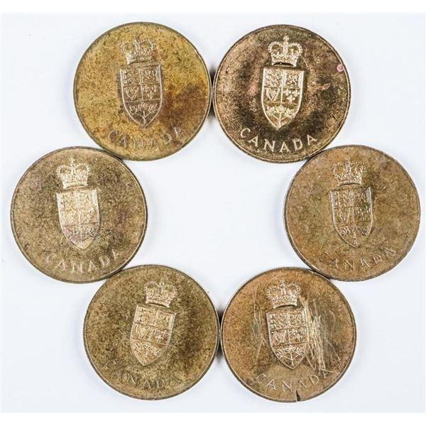 Lot (6) 1867-1967 Confederation Medals