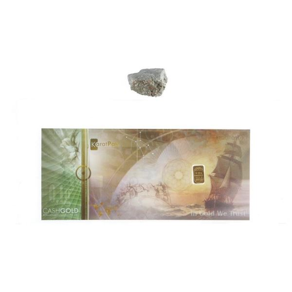 Genuine Pyrite - Rock in the Rough, Gold is  Often Mined From 'Pyrite' Plus .999 Fine Pure  Gold Bar