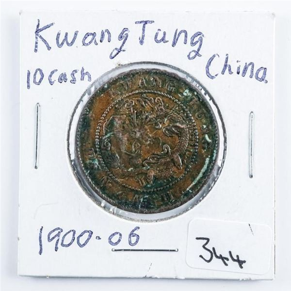Kwang Tung - China 10 CASH - 1900-1906