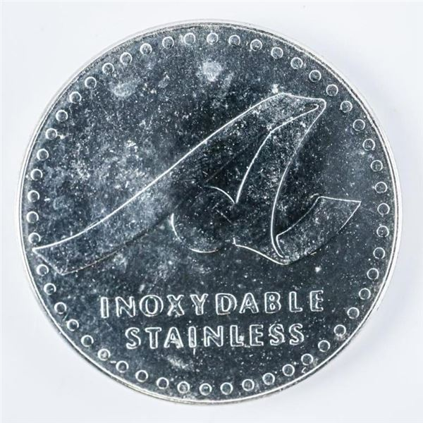 1978 Atlas Steel 50th Anniversary Token,  Stainless Steel