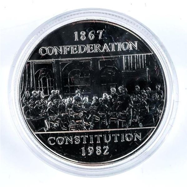 Canada 1984 Constitution Dollar Coin with  Case
