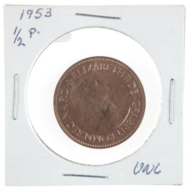 1953 Great Britain 1/2 Penny UNC