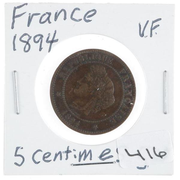 France 1894 5 Centimes