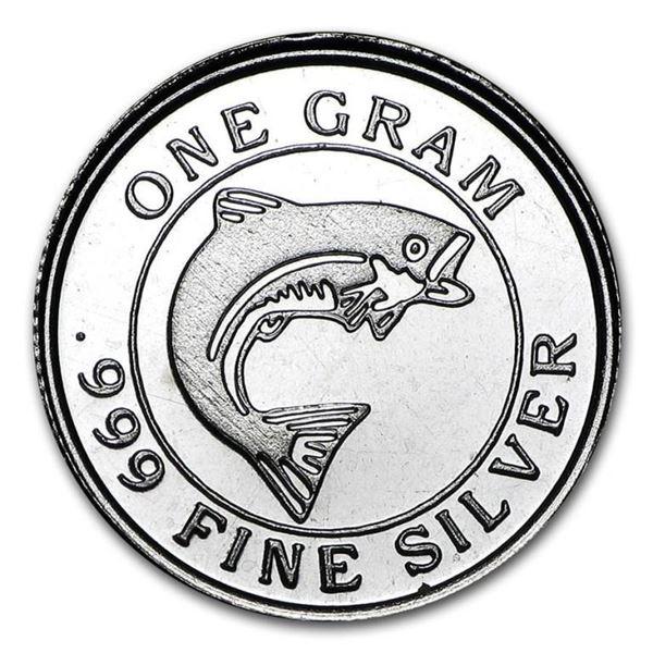 Collector Bullion Round .999 Fine Silver  SALMON