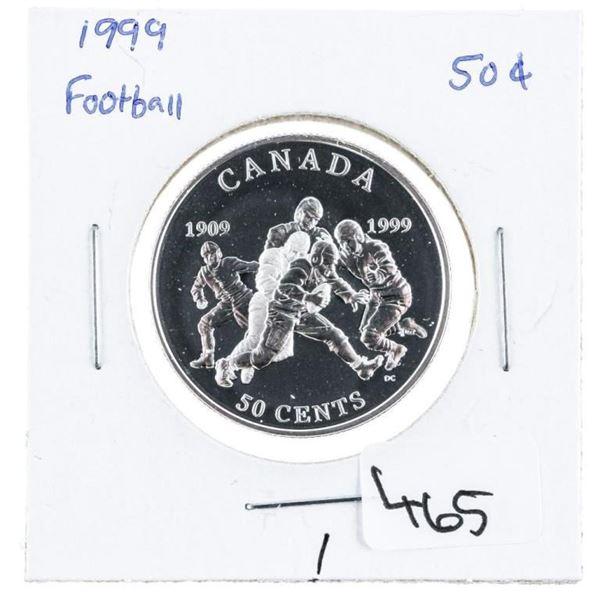 1999 RCM Football Coin .50 Cents 925 Silver