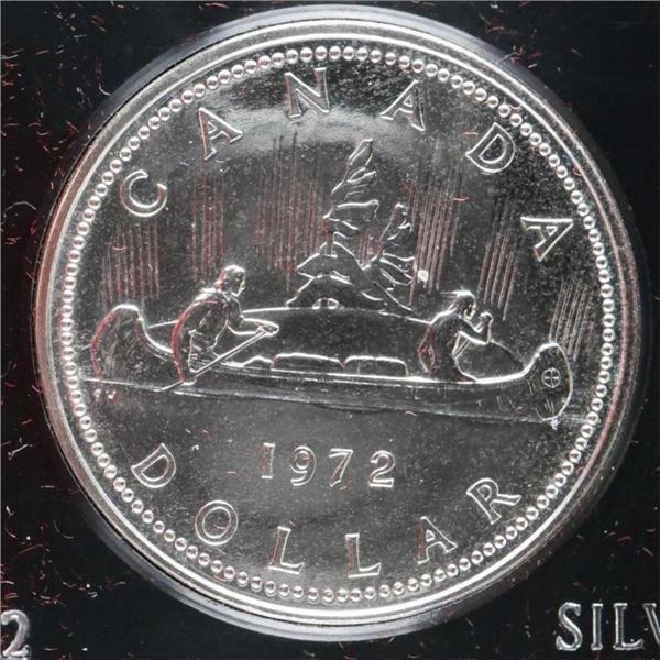 1972 Canada Silver Dollar Cased