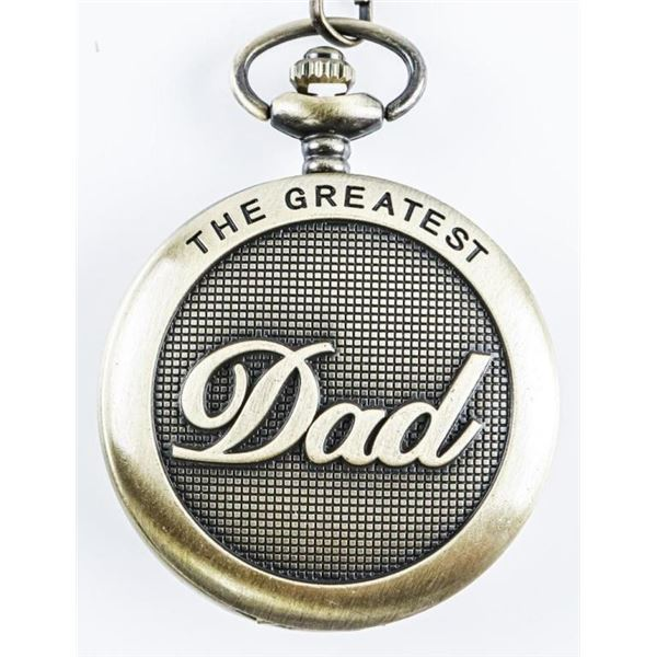 Antique Style Pocket Watch with Fob 'DAD'