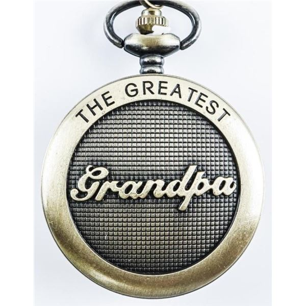 Antique Style Pocket Watch with Fob 'Grandpa'