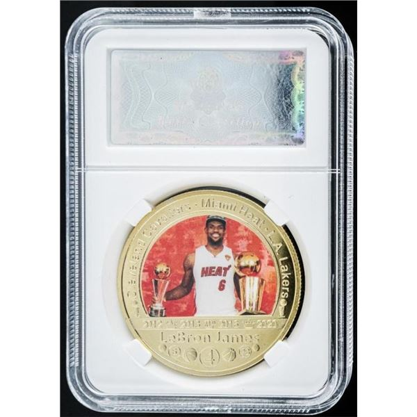 LeBron James - 24kt Gold Foil Champion  Medallion
