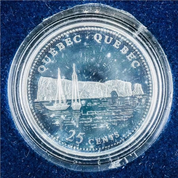 1992 Canada 925 Sterling Silver 25 Cents Quebec