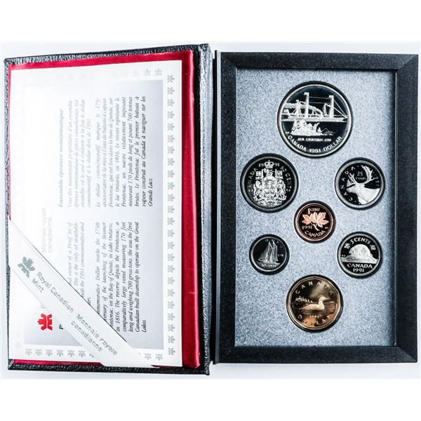 RCM 1991 Proof Coin Set with Silver Dollar