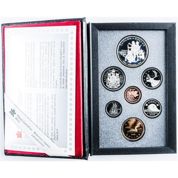 RCM 1990 Proof set with Silver Dollar