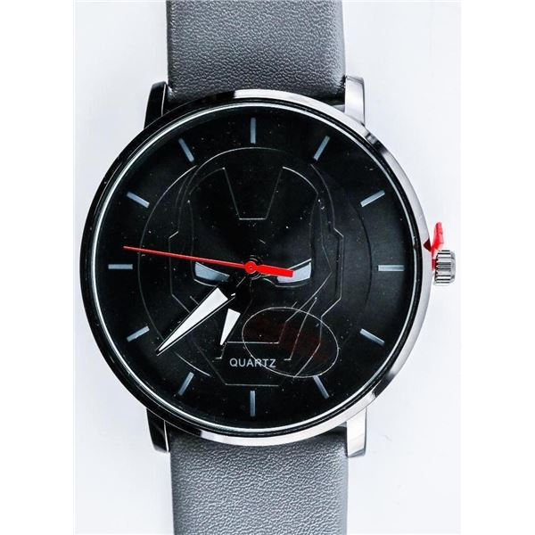 Duke Nicle - Quartz Watch Black Dial with Marvel Head, WATERPROOF
