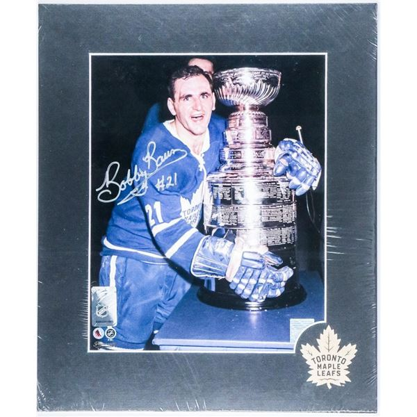 TML 'Bobby Baun' with Stanley Cup - Signed 8x10 Matted