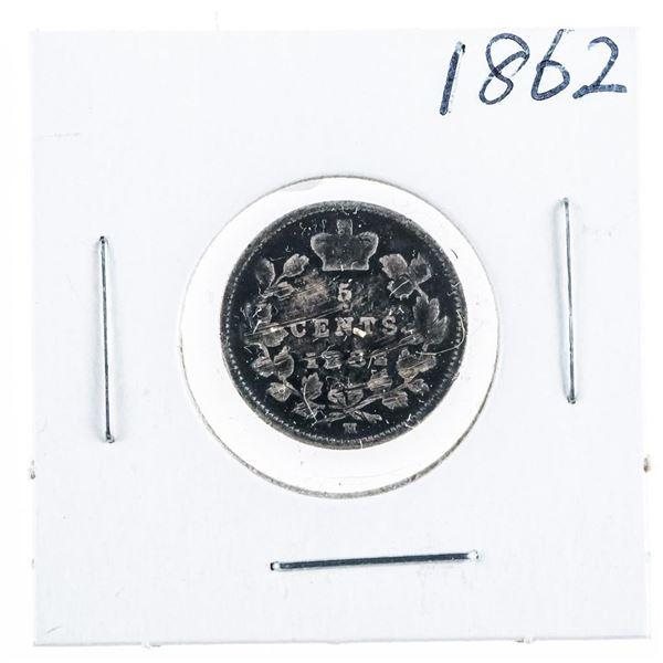 1862 CANADA Silver 5 Cents