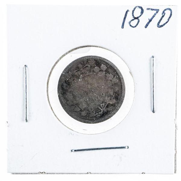 1870 CANADA Silver 5 Cents
