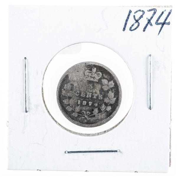 1874 CANADA Silver 5 Cents