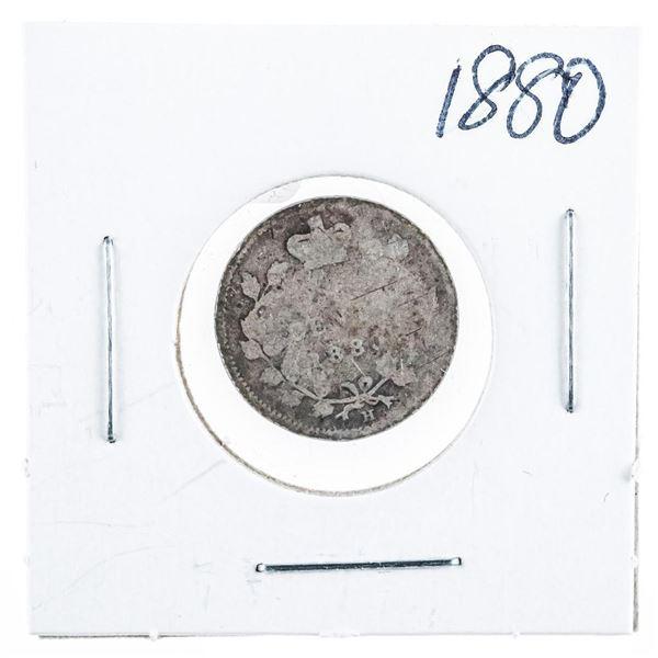 1880 CANADA Silver 5 Cents