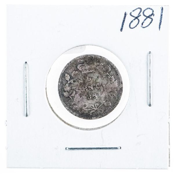 1881 CANADA Silver 5 Cents