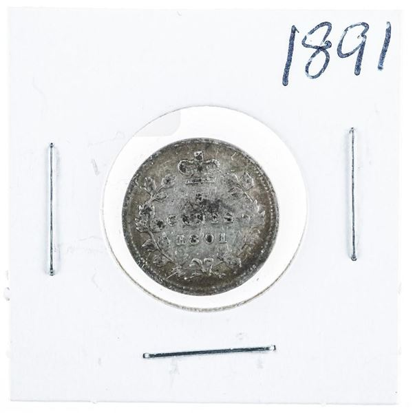 1891 CANADA Silver 5 Cents