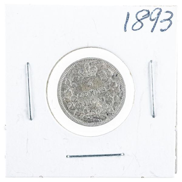 1893 CANADA Silver 5 Cents