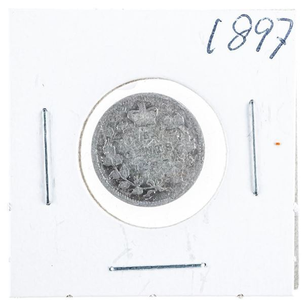 1897 CANADA Silver 5 Cents