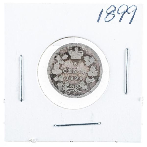 1899 CANADA Silver 5 Cents