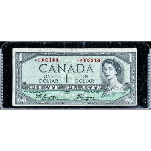 Bank of Canada 1954 1.00 *Replacement (AA) (F) B-C