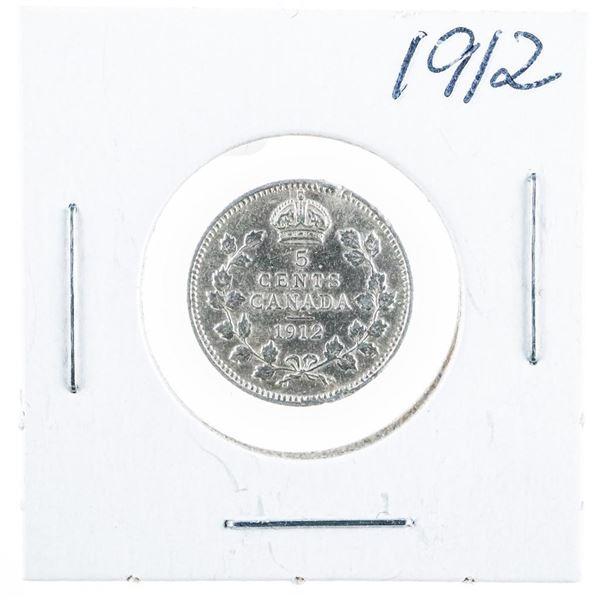 1912 CANADA Silver 5 Cents