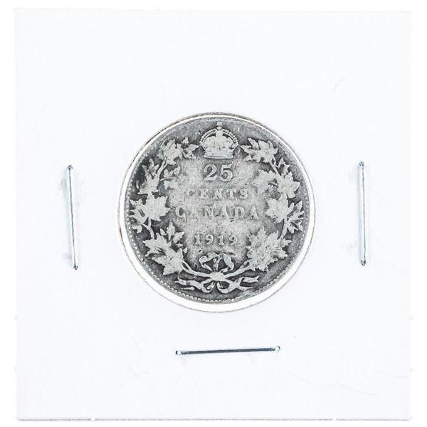 1919 Canada Silver 25 Cent
