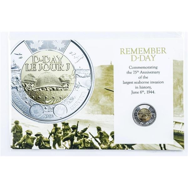 Remember D-Day Special Issue, June 6, 1944 2.00 Coin with Giclee Art Card