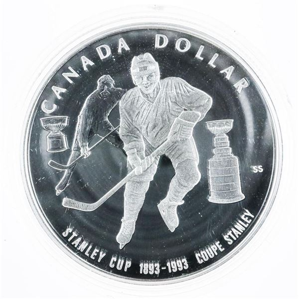 1993 Proof Silver Dollar - Stanley Cup 925 Silver