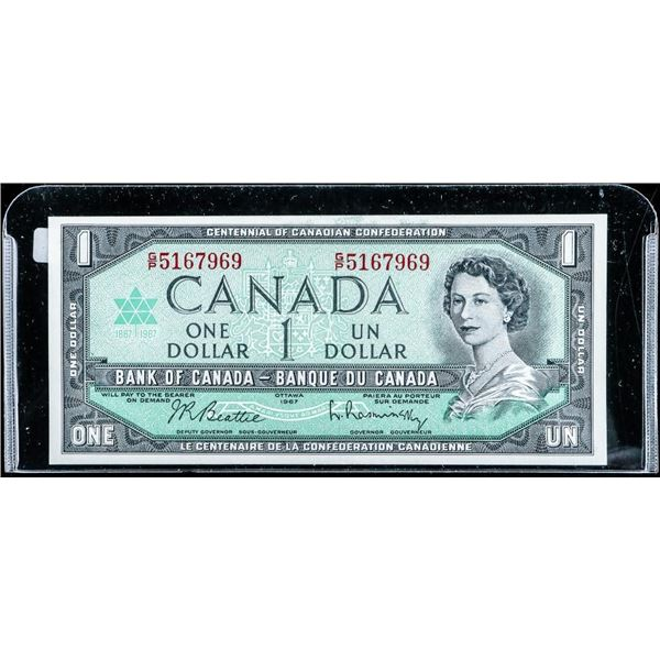 Bank of Canada 1967 1.00 G/P with Serial number
