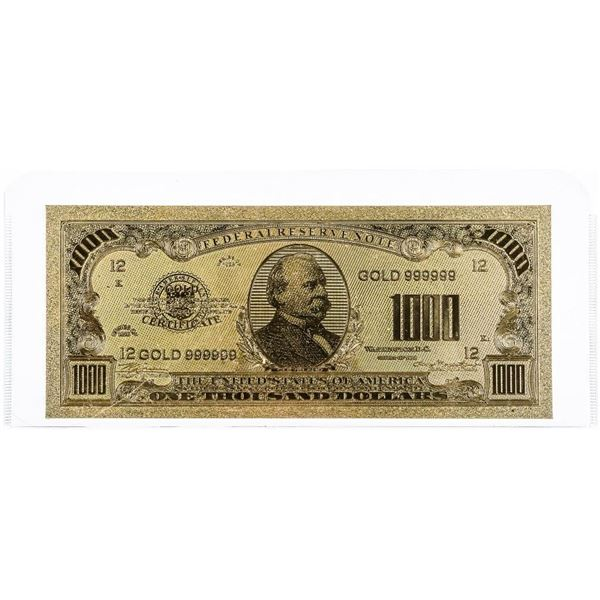 USA 1000.00 Dollars Gold Note, Collectible