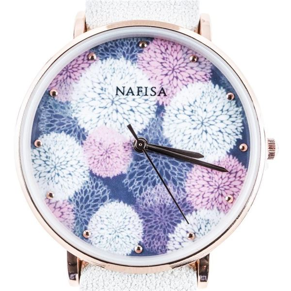Ladies Nafisa Quartz Watch Leather Band