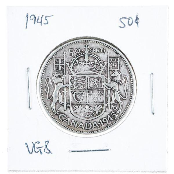 1945 CANADA Silver 50 Cent