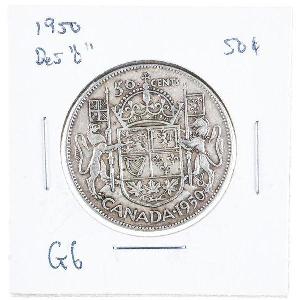 1950 CANADA Silver 50 Cent Design 'O'