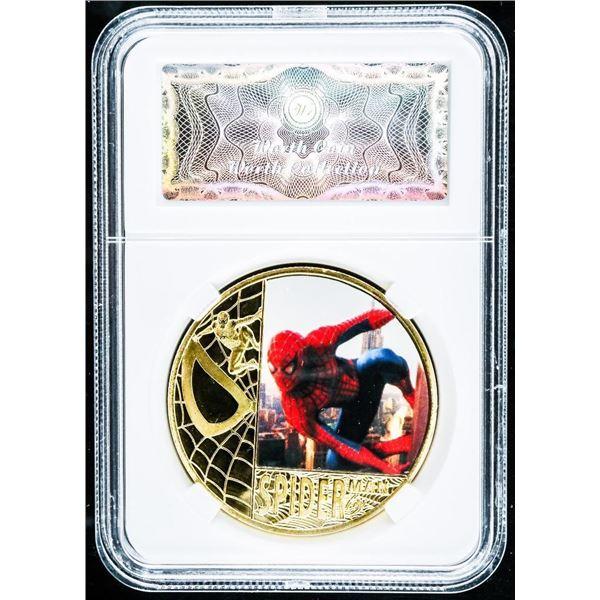 Spiderman 24kt Gold Foil Medallion LE
