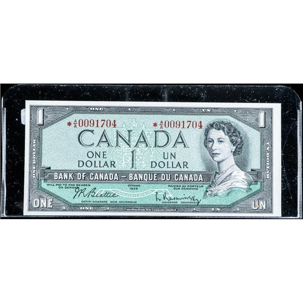 Bank of Canada 1954 1.00 *Replacement (AA) UNC B-R
