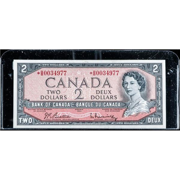 Bank of Canada 1954 2.00 *Replacement (BB) GEM UNC B-R