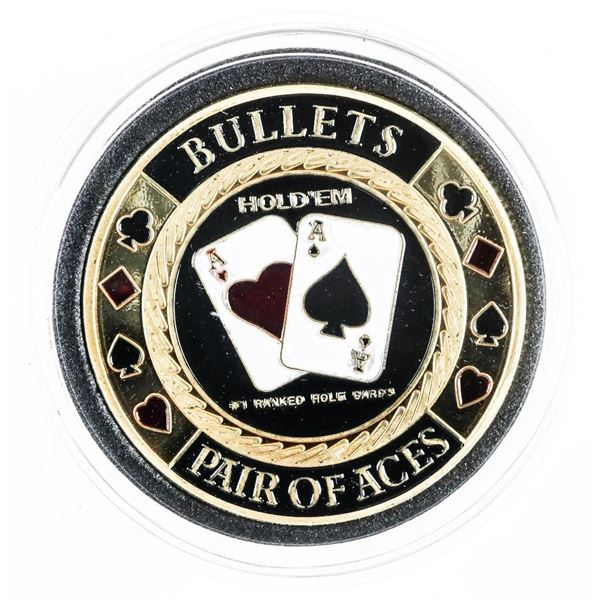 Bullets - Pair of Aces Casino Collectible Medallion