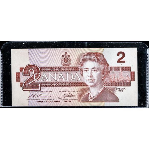 Bank of Canada 1986 2.00 (BBX) AU