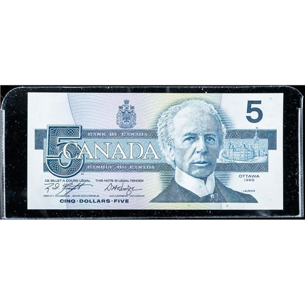 Bank of Canada 1986 5.00 (ANR) GEM UNC