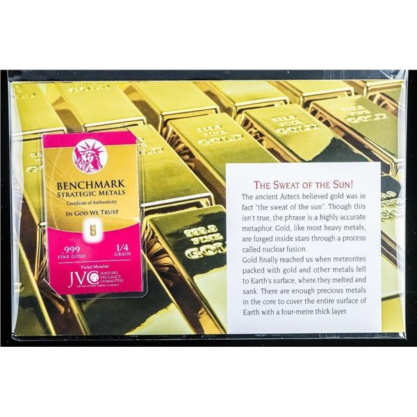 The Sweat of the Sun .999 Fine Pure 24kt Gold Bar with Display