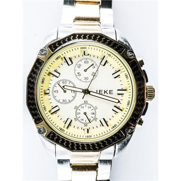 Gents Sport Watch Screwhead Bezel 2 Tone