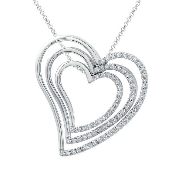 Natural 0.64 CTW Diamond Necklace 18K White Gold - REF-160R2K