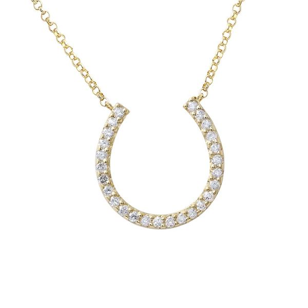 Natural 0.37 CTW Diamond Necklace 14K Yellow Gold - REF-59Y4N