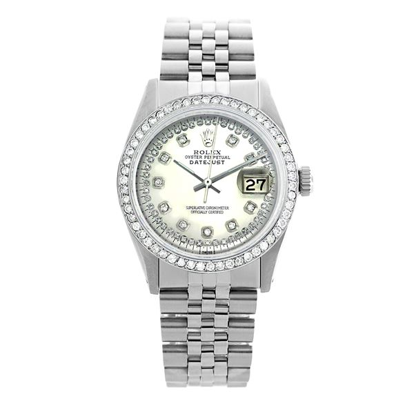 Rolex Pre-owned 36mm Mens String Silver Dial Stainless Steel