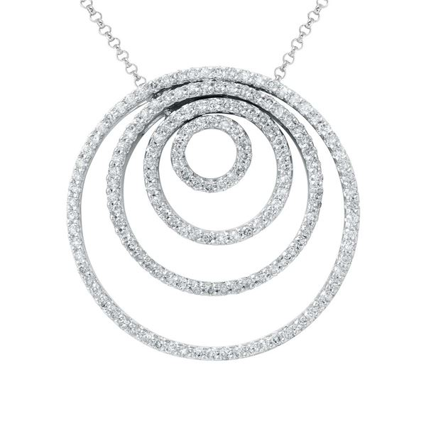 Natural 2.08 CTW Diamond Necklace 14K White Gold - REF-171M2F