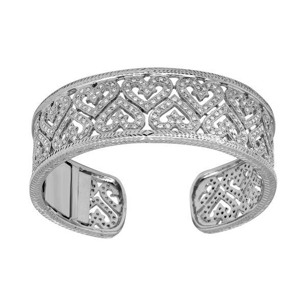 Natural 3.58 CTW Diamond Bangle 18K White Gold - REF-762R3K